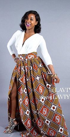 L'AVIYE's love for African clothing & African maxi skirts comes to life in this full gathered African maxi skirt.  African clothing African skirt. Ankara | Dutch wax | Kente | Kitenge | Dashiki | African print dress | African fashion | African women dresses | African prints | Nigerian style | Ghanaian fashion | Senegal fashion | Kenya fashion | Nigerian fashion | Ankara crop top (affiliate)