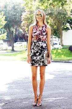 Topshop Photo Floral Body Con Dress #fashionjackson