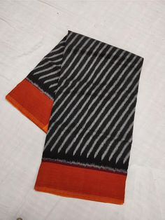 ikkat merceraized cotton sarees with blouse. - Elegant Fashion Wear