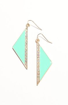 With Love From CA Rhinestone Triangle Earrings