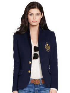 Shop for Blazers online at Crafted from an ultra-soft cotton-blend fleece, Polo Ralph Lauren\u0026#39;s trim-fitting blazer is designed with a polished two-button ...