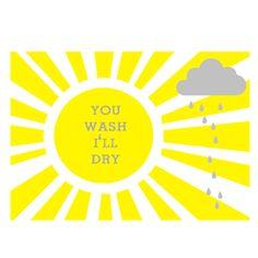 You Wash I'll Dry Tea Towel - hardtofind.