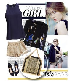 """""""Golden"""" by vicuka ❤ liked on Polyvore featuring Murphy, Versace, Lucky Brand, 2nd Day, Christian Dior, STELLA McCARTNEY, women's clothing, women's fashion, women and female"""