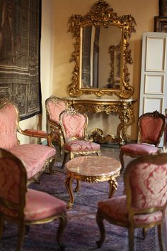 Palazzo Medici Riccardi interior ,Florence , Italy. I want such a decadent mirror and a chair for my dressoir