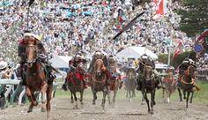 Samurai in the Kacchu Keiba horse race, Fukushima, Japan