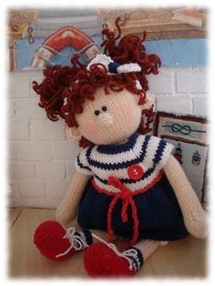 Toy Knitting Pattern - Alice - Emil's Girlfriend /knit pattern doll /Knitting…