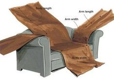 Home-Dzine - How to make a sofa or couch slipcover without the hassle: