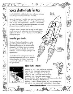 Space Facts Tim's Printables – Blank Templates, Worksheets, Diagrams and Printables 6th Grade Science, Preschool Science, Science For Kids, Earth Science, Space Activities, Science Activities, Science Facts, Life Science, Space Facts For Kids