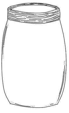 Free printable Mason Jar, for finger print bugs.