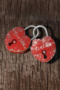 Hearts locked together