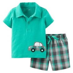 Just One You™Made by Carter's® Boys' 2 Piece Car Top and Plaid Bottom Set Baby Boy Outfits, Kids Outfits, Target Baby, Summer Boy, Spring Summer, Boys Shirts, Kids Wear, Boy Fashion, My Boys