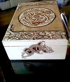 Celtic Woodburned Box - i have an obsession for wooden boxes