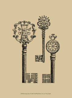 Old Keys I like | Breathtaking designs. When keys were as much art and function!