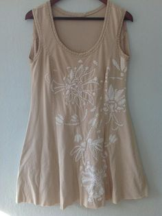 Tunic length camisole top with Angie's Fall placement stencil.