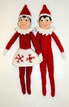 Ravelry: Holiday Shelf Elf Crochet Doll - free pattern by Mary Smith