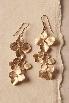 BHLDN Gilt Dogwood Earrings in Bride Bridal Shoes & Accessories Bridal Jewelry Jewelry Shop, Gold Jewelry, Jewelry Accessories, Fine Jewelry, Jewelry Design, Fashion Jewelry, Beaded Jewelry, Handmade Jewelry, Steel Jewelry