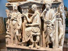 Ancient Roman Sarcophagus from Konya archaeological museum