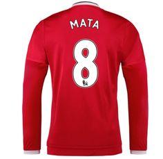 Manchester United Jersey 2015/16 Home LS Soccer Shirt #8 Mata