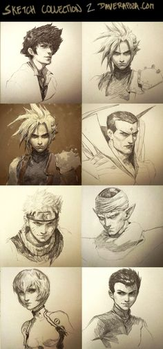 Sketch Collection part 2! by DavidRapozaArt.deviantart.com on @DeviantArt