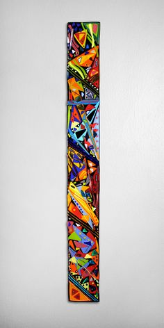 Mardi Gras Wall Panel by Helen Rudy: Art Glass Wall Sculpture available at www.artfulhome.com