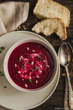 OVEN-ROASTED CREAMY BEET SOUP *Baking sheet and blender. http://www.foodienarium.com/oven-roasted-creamy-beet-soup/