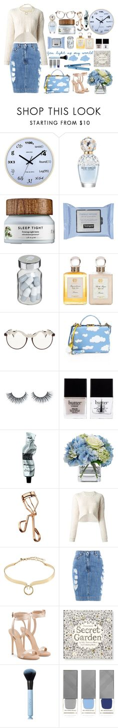 """You light up my world."" by daniela-896 ❤ liked on Polyvore featuring WALL, Marc Jacobs, Vita, Antica Farmacista, MOO, Mark Cross, Butter London, Aesop, Diane James and Tweezerman"