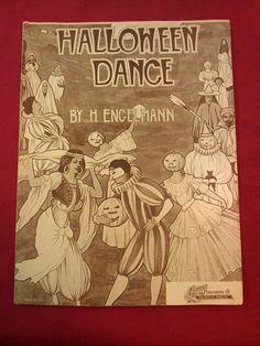 1920s The Halloween Dance / Antique Halloween Party Sheet Music