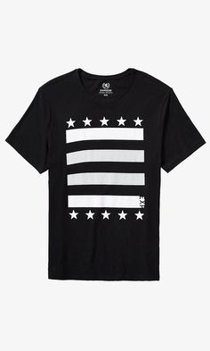 Stars And Stripes Faux Mesh Graphic Tee