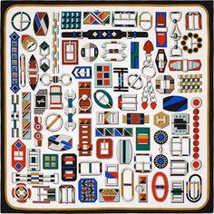 My favorite carré Hermès. Carré en Boucles, Dessiné par Virginie Jamin
