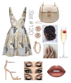 """""""Evening Lights"""" by emma-natalie ❤ liked on Polyvore featuring Notte by Marchesa, LSA International, Giuseppe Zanotti and Lime Crime"""
