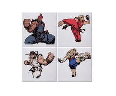 Posavasos Street Fighter personajes principales 012 de SportShirtFactory en Etsy