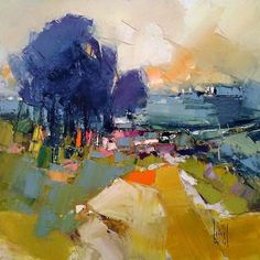 Materials For Oil Painting Landscape Artwork, Abstract Landscape Painting, Watercolor Landscape, Abstract Art, Guache, Impressionist Paintings, Land Scape, Painting Inspiration, Canvas Art