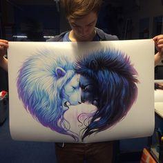 Brotherhood Signed Fine Art Giclee Print Wall Decor by JoJoesArt
