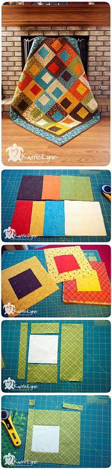 Мастер-класс по шитью пэчворк одеяла для дома