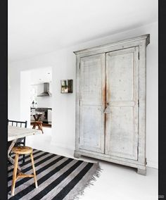 Gorgeous Wardrobe,      * Use framed doors to mimic an armoire, positioned over a typical closet.