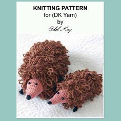 Patsy and Lily Mum and Baby Hedgehog Toy Knitting Pattern