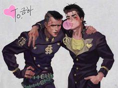 Josuke and Okuyasu - Jojo's Bizarre Adventure Part 4