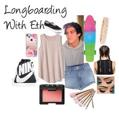 """""""Longboarding With Eth"""" by dancer565678 ❤ liked on Polyvore featuring GET LOST, Gap, Vans, J Brand, Anita Ko, NARS Cosmetics, NIKE, Casetify, longboarding and ethandolan"""