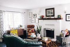 A cozy living room  Read more - http://www.stylemepretty.com/living/2013/09/23/flora-faunas-home-tour/