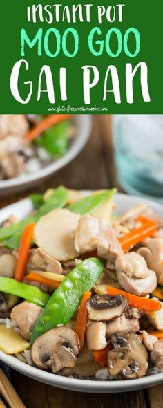 This Pressure Cooker Moo Goo Gai Pan is so easy to cook, your whole family will love this Chinese takeout made at home! So easy to make in your Instant Pot or other Electric Pressure Cooker, it's gluten free too. #chinesefoodrecipes