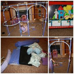 Such a great way to easily build forts with your kids! Fort Magic!