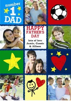 Why not upload some of the kids artwork and photos into this awesome Father's Day Photo Upload card Fathers Day Photo, Happy Fathers Day, Kids Artwork, Photo Upload, You Are The Father, New Jersey, Birthday Cards, Card Making, Greeting Cards