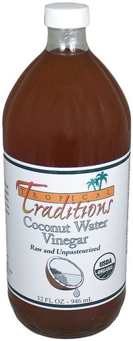 Coconut Water Vinegar Will Shine Your Locks. Love this as a toner in areas where I'm breaking out as well!