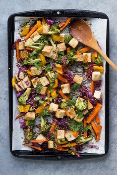 Teriyaki Tofu Sheet Pan Dinner | Vegan, Gluten-Free