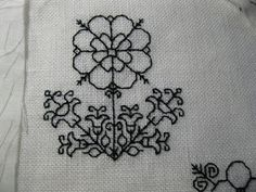 Tactile Arts Play Group: A couple more blackwork flowers