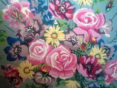 Sweet Floral Vintage Paint by Number by thisnurselovestoknit, $18.00