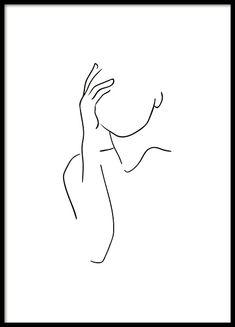 Shoulder Line Art Poster - Shoulder Lineart Poster in the group Posters & Print. - Shoulder Line Art Poster – Shoulder Lineart Poster in the group Posters & Prints / Illustrations - Person Drawing, Line Drawing, Drawing Style, Drawing Hair, Wall Drawing, Gesture Drawing, Drawing Faces, Drawing People, Abstract Drawings