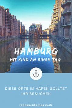 Hamburg mit Kind an nur einem Tag erleben. Euer Wunsch: viel erleben und wenig Stress. Unser Tipp: beginnt mit ausgewählten Orten in und am Hafen. Lauft durch den Alten Elbtunnel, schippert durch die Hafenbecken, buddelt am Elbstrand, besichtigt Schiffe und genießt die Speicherstadt/HafenCity mit ihren tollen Spielplätzen. So bringt ein Hamburg-Trip auch Kindern Spaß! Finanz App, Budget Planer, Stress, Kids Fun, Playground, Wish, Road Trip Destinations, Finance, Travel Advice