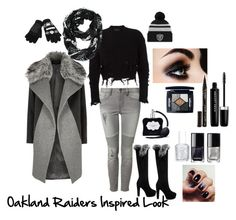 Raider Nation Inspired Look by womens-pigskin on Polyvore featuring adidas Originals, River Island, Devoted, Forever Collectibles, Christian Dior, Marc Jacobs, Smith & Cult, Victoria's Secret, Chanel and Essie