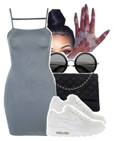 """""""1284"""" by ashley-mundoe ❤ liked on Polyvore featuring The Row, Chanel, Topshop and NIKE"""